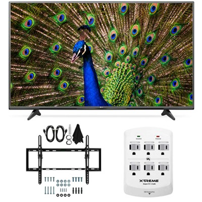 49UF6400 - 49-Inch 120Hz 4K Ultra HD Smart LED TV Flat & Tilt Wall Mount Bundle
