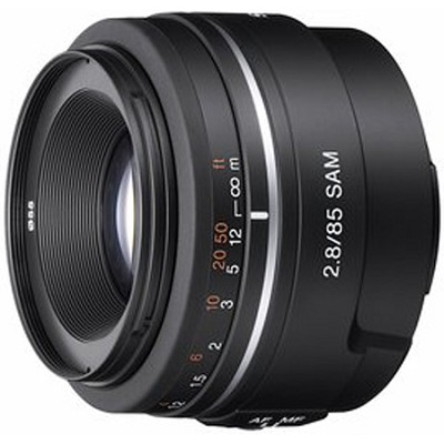 SAL85F28 - 85mm f/2.8 SAM Mid-range Telephoto Lens for Sony Alpha DSLR's