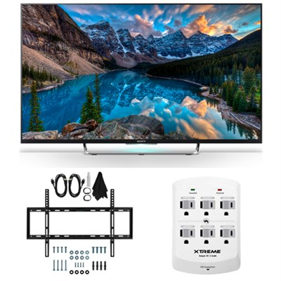 KDL-50W800C - 50-Inch 120Hz 3D Smart LED HDTV Slim Flat Wall Mount Bundle