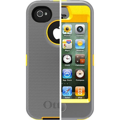 OB iPhone 4/4S Defender - Sun Yellow PC / Gunmetal Grey