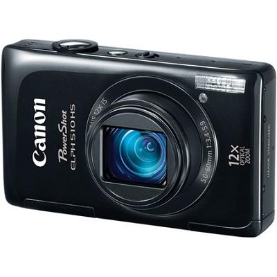 PowerShot ELPH 510 HS Black Digital Camera w/ 3.2 inch Touch Screen