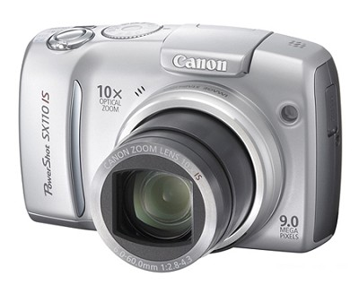 Powershot SX110 IS 9MP Digital Camera (Silver)