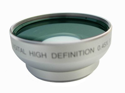 Professional .45X Wide Angle Lens w/ Macro - for 37mm threading