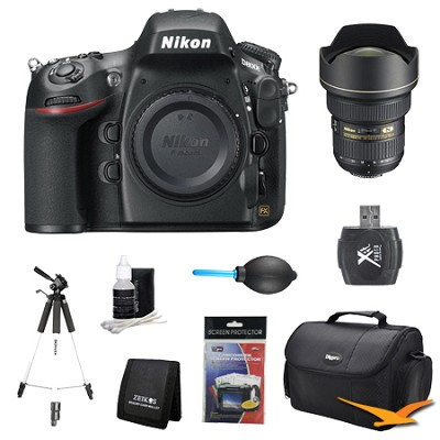D800E 36.3 MP CMOS FX-Format Digital SLR Camera Body 14-24mm Lens Kit