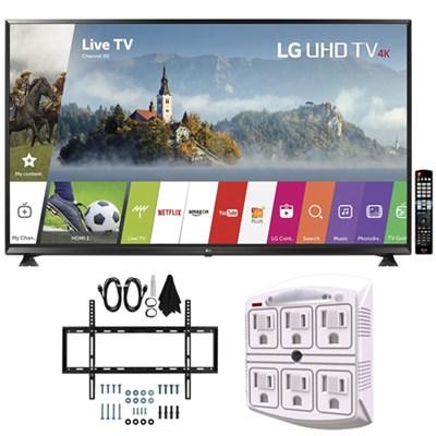 65` Super UHD 4K HDR Smart LED TV (2017 Model) w/ Wall Mount Bundle