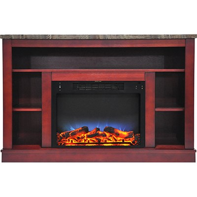 47.2 x15.7 x32.5  Seville Fireplace Mantel with LED Insert Cherry
