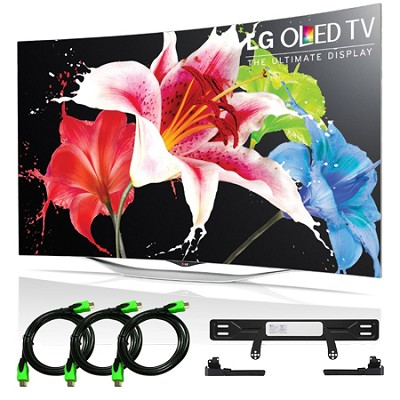 55EC9300 - 55-Inch 1080p Smart 3D Curved OLED TV + LG Mount Accessory Bundle