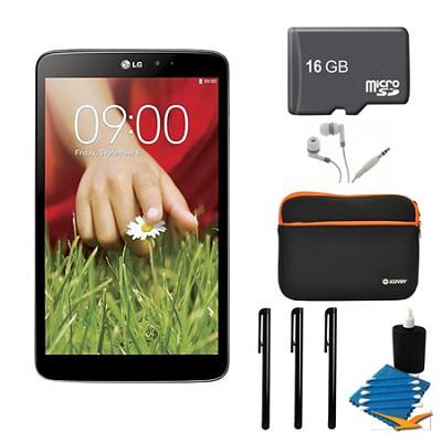 G Pad V 500 16GB 8.3` WiFi Black Tablet, 16GB Card, and Case Bundle
