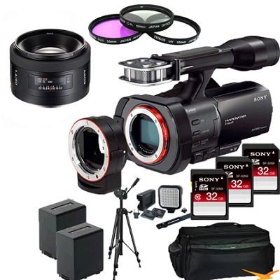 NEX-VG900 Full-Frame Full Frame HD Camcorder + SAL 50MM f/1.4 Full Frame Lens