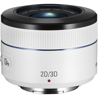 NX 45mm f/1.8 2D/3D Camera Lens - White