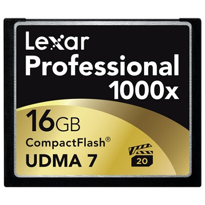 16 GB Professional 1000x Compact Flash (Thin Box)(LCF16GCTBNA1000)
