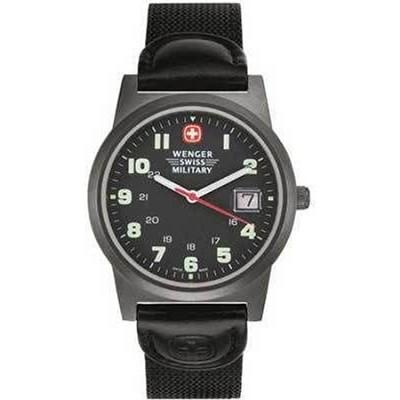 Swiss Classic Field Watch Men's Gun Metal Black Dial w/ Black Nylon Strap