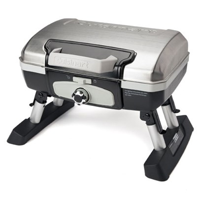 CGG-180TS - Petit Gourmet Portable Tabletop Gas Grill Stainless Steel - OPEN BOX