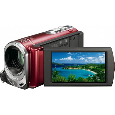 Handycam DCR-SX44 Palm-sized Red Camcorder w/ 60x Optical Zoom and 4GB memory