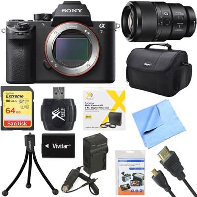 a7R II Full-frame Mirrorless Interchangeable 42.4MP Camera Body 90mm Lens Bundle