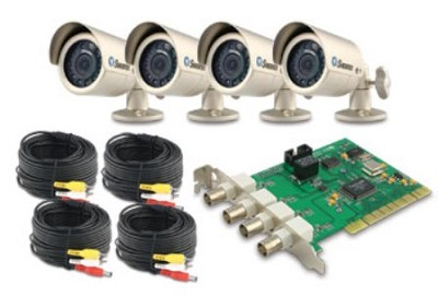 DVR41150 4 Channel PC DVR with 4 Outdoor Cams (SW244PCC)