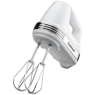 Power Advantage 5-Speed Hand Mixer, White - HM-50
