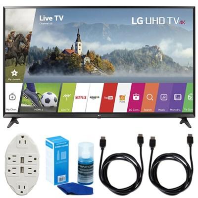 43-inch UHD 4K HDR Smart LED TV (2017 Model) w/ Accessories Bundle