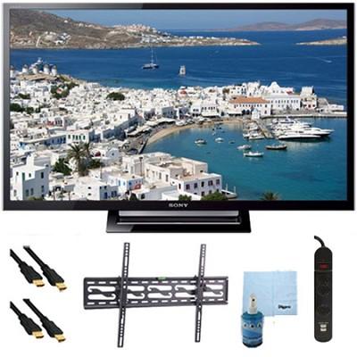 32` 720p LED HDTV Motionflow XR 120 Plus Tilt Mount & Hook-Up Bundle KDL32R420B