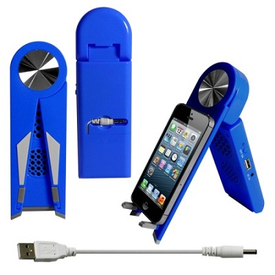 Stand Speaker for Tablets & Smartphones in Blue