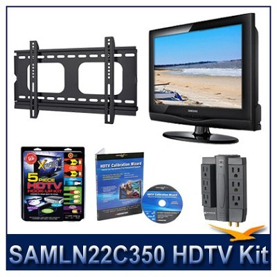 LN22C350 - HDTV + Hook-up Kit + Power Protection + Calibration + Flat Mount