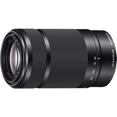 SEL55210 - 55-210mm Zoom E-Mount Lens (Black) - OPEN BOX