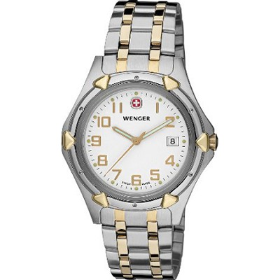 Men's Standard Issue XL Watch - White Dial/Bi-Color Stainless Steel Bracelet