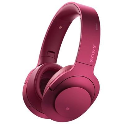 MDR100 h.Ear on Wireless NC On-Ear Bluetooth Headphones w/ NFC - Bordeaux Pink