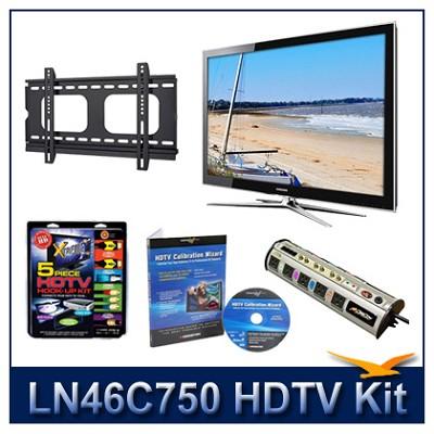 LN46C750 - 3D HDTV + Hook-up Kit + Power Protection + Calibration + Flat Mount