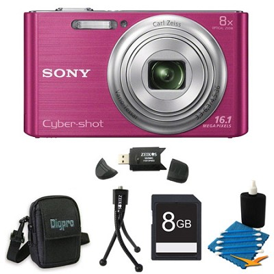 DSCW730 16 MP 2.7-Inch LCD Digital Camera Pink Kit