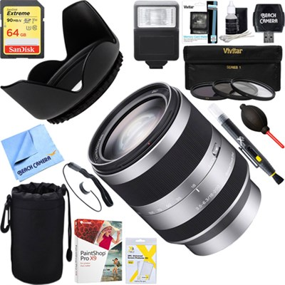 18-200mm F3.5-6.3 OSS Alpha E-mount Interchangeable Lens + 64GB Ultimate Kit