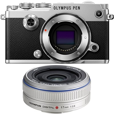 PEN-F 20MP Mirrorless Micro Four Thirds Digital Camera w/ 17mm f2.8 Lens Bundle