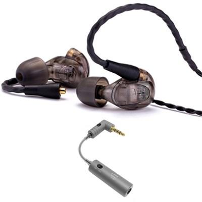 UM Pro 30 High Performance In-ear Headphone Smoke - 78489 w/ iFi Audio iEMATCH