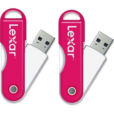 JumpDrive TwistTurn 16 GB High Speed USB Flash Drive (Pink) 2-Pack (32GB Total)