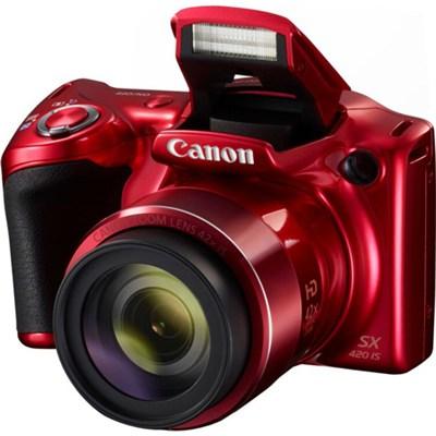 PowerShot SX420 IS 20MP Digital Camera w/ 42x Optical Zoom + Wi-Fi - Red