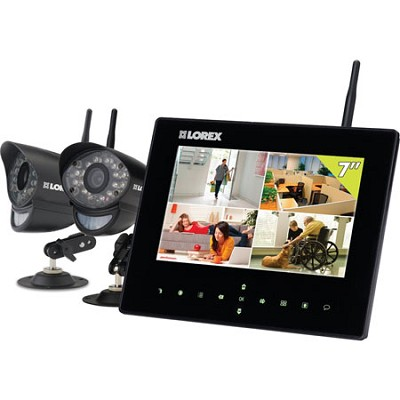 Wireless Video Monitoring System with 2 Cameras for Home