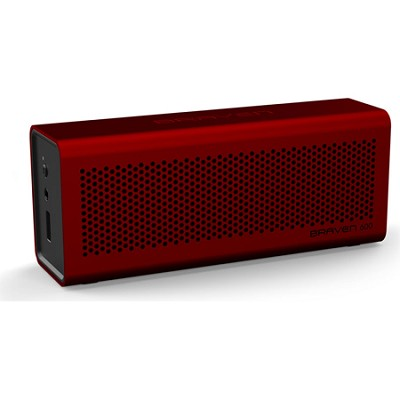 600 Bluetooth Speakerphone and Charger for iPhone, iPod, iPad (Red)