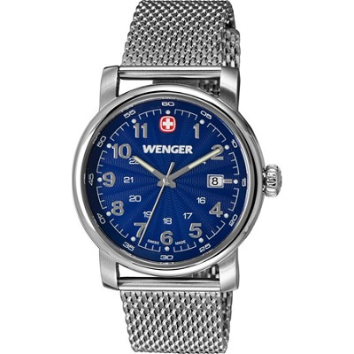 Men's Urban Classic Swiss Army Watch - Blue Sunray Dial/Stainless Steel Bracelet
