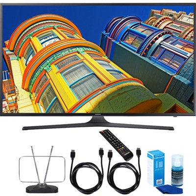 UN55KU6290 - 55` Smart 4K UHD HDR LED TV with Cord & Clean-Up Bundle