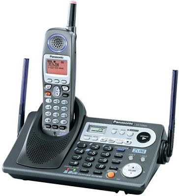 KX-TG6500B 5.8GHz 2 Line Expandable Phone with Digital Answering Machine