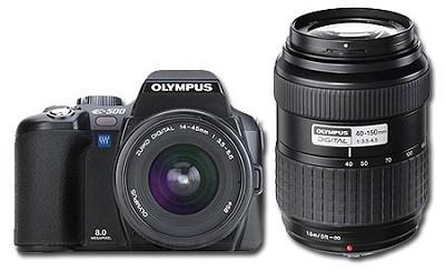 Evolt E-500 DSLR Double Lens Kit inc. Zuiko 14-45 and 40-150