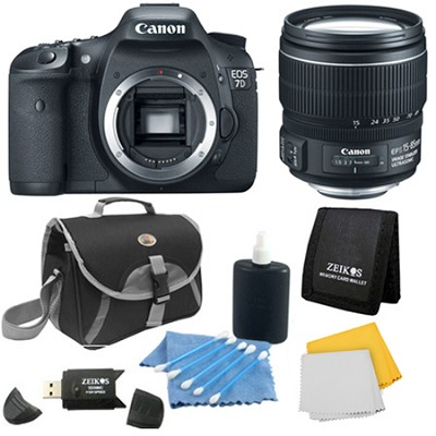 EOS 7D SLR Camera Bundle w/ 15-85mm Lens and Case - Instant Rebate Bundle