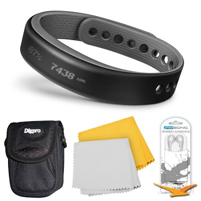 vivosmart Bluetooth Fitness Band Activity Tracker - Large - Slate Bundle