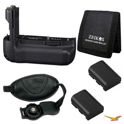Essential BG-E9 Battery Grip Bundle for the Canon EOS 60D