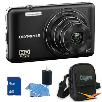 4GB Kit VG160K 14MP 5x Opt Zoom Black Digital Camera - Black