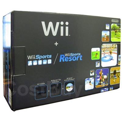 Wii Console Black Sports Resort - OPEN BOX