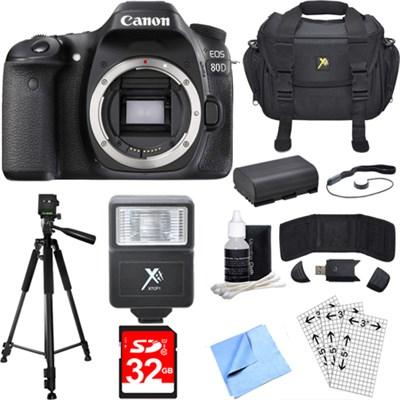 EOS 80D 24.2 MP CMOS Digital SLR Camera (Body) Deluxe Bundle