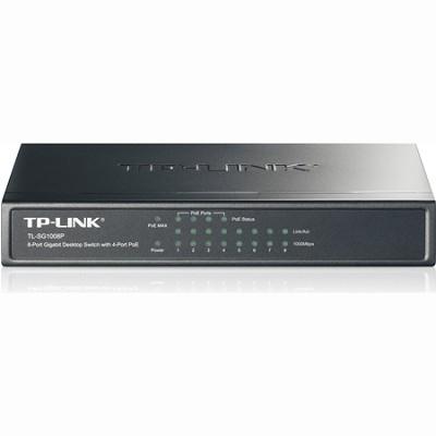 8-Port Gigabit Desktop Switch with 4-Port PoE - TL-SG1008P