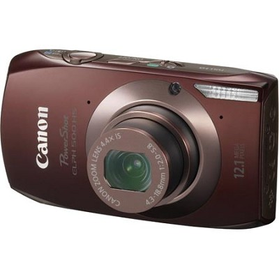 PowerShot ELPH 500 HS Brown Digital Camera w/ 3.2 inch Touch Screen