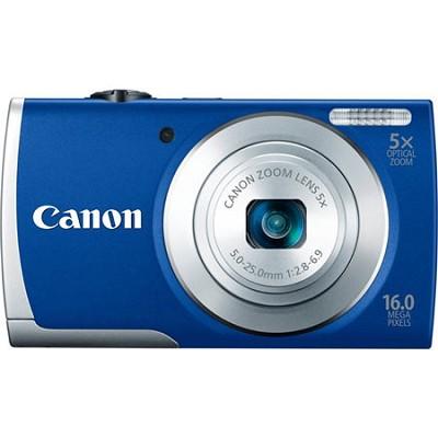 PowerShot A2600 Blue 16MP Digital Camera with 5x Optical Zoom, 720p HD Video
